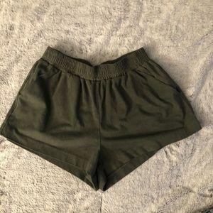 Forever 21 suede microfiber short shorts